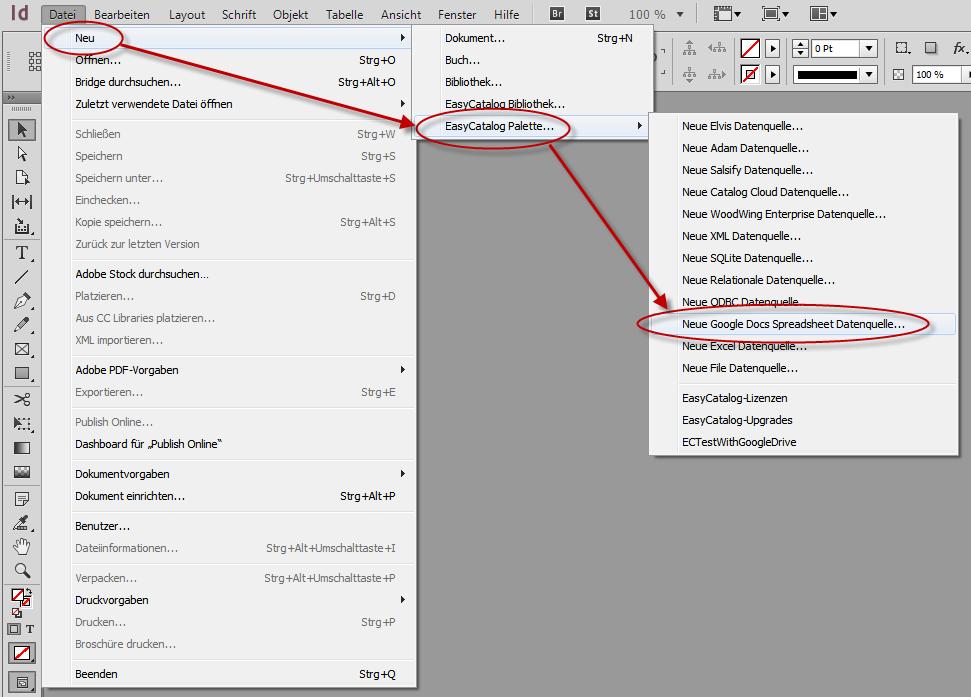 EasyCatalog nutzt Google-Drive-Tabelle als Datenquelle
